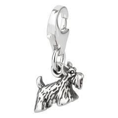 Charm / Anhänger 925 Silber Hund Scottish Terrier 2