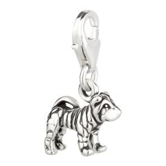 Charm / Anhänger 925 Silber Hund Shar Pei