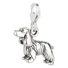Charm / Anhänger 925 Silber Hund Cocker Spaniel 2