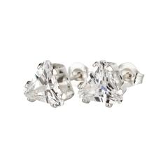 Ohrstecker 925 Silber weißer Zirkonia Dreieck
