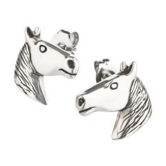 Ohrstecker 925 Silber Pferd