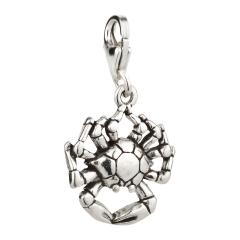Sternzeichen Charm / Anhänger 925 Silber Krebs