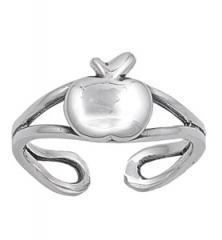 Zehenring 925 Silber Apfel