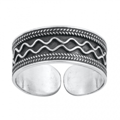 Zehenring 925 Silber Bali Style Modell 3