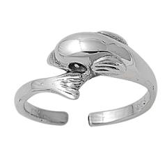 Zehenring 925 Silber Delfin 1