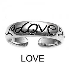 Zehenring 925 Silber Liebe 1