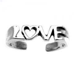 Zehenring 925 Silber Liebe 2