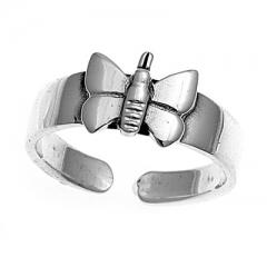 Zehenring 925 Silber Schmetterling 4
