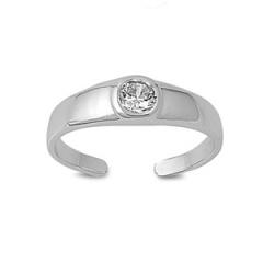 Zehenring 925 Silber Weißer Zirkonia 3