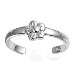 Zehenring 925 Silber Blume 1