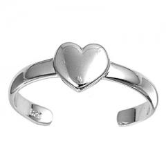 Zehenring 925 Silber Herz 11