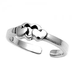 Zehenring 925 Silber Herz 9