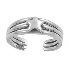 Zehenring 925 Silber Stern 1