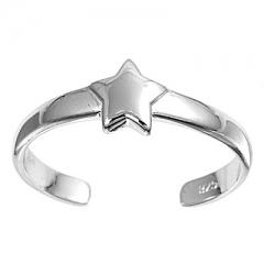 Zehenring 925 Silber Stern 5