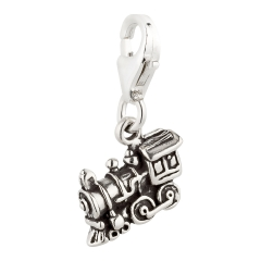 Charm / Anhänger 925 Silber Eisenbahn