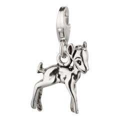 Charm / Anhänger 925 Silber Bambi Rehkitz