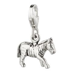 Charm / Anhänger 925 Silber Zebra