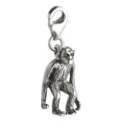 Charm / Anhänger 925 Silber Affe