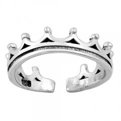 Zehenring 925 Silber Krone